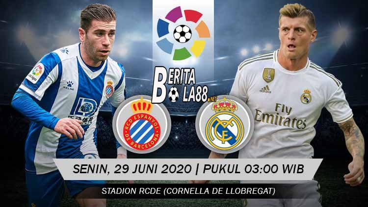 Prediksi Bola Espanyol vs Real Madrid 29 Juni 2020