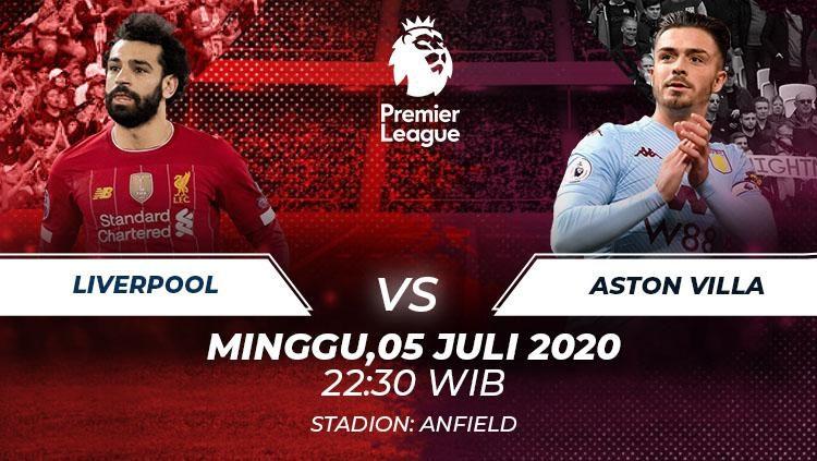 Prediksi Bola Liverpool vs Aston Villa 5 Juli 2020