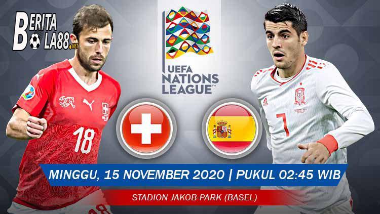 Prediksi Skor Swiss vs Spanyol 15 November 2020